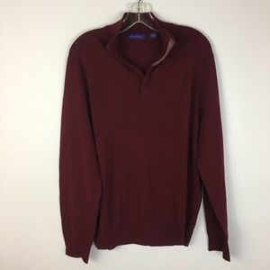Alan Flusser Men's Maroon Pullover Sweater Size L